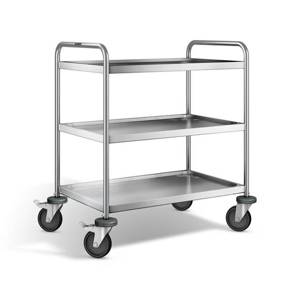 Stainless Steel 3 Tier Serving Trolley 01 1196 2a