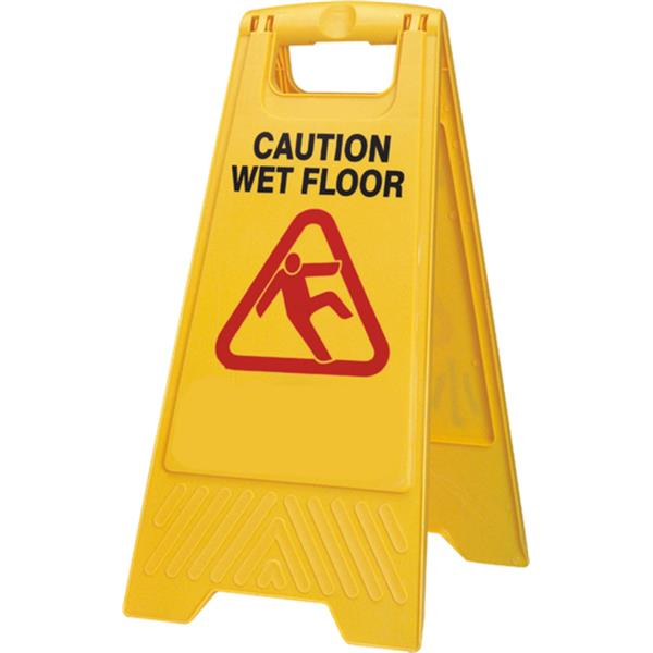 Yellow Wet Floor Caution Sign Af03042 Galgorm Group