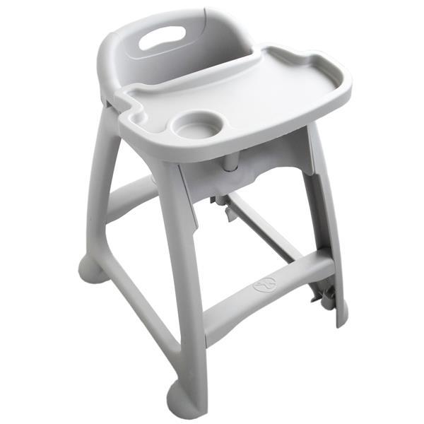 Sturdy Plastic Grey High Chair Af12601a Galgorm Group