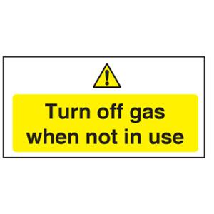 Turn Off Gas When Not In Use Sign St74665 Galgorm