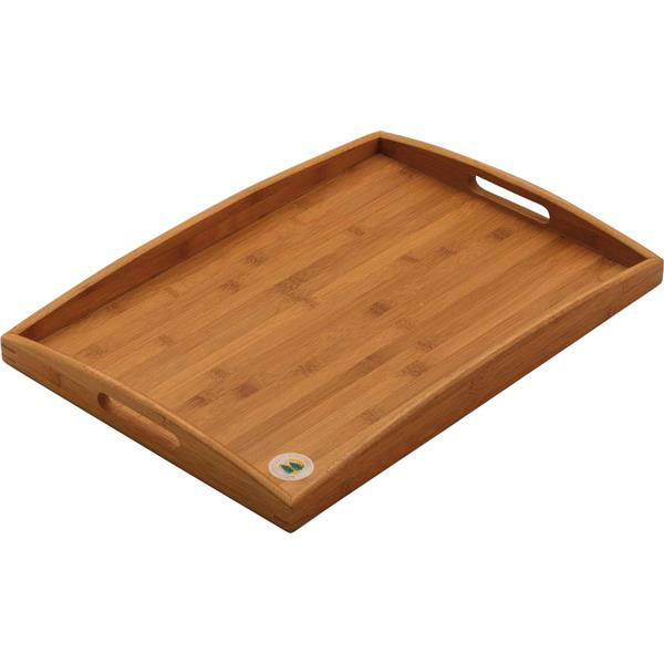 Butlers Tray 49 X 38.5X 4.5cm School Catering Tray Serving Cafe Acacia Wood Tray